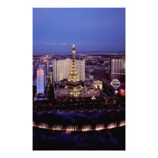 Las Vegas by Night 3 Customised Stationery