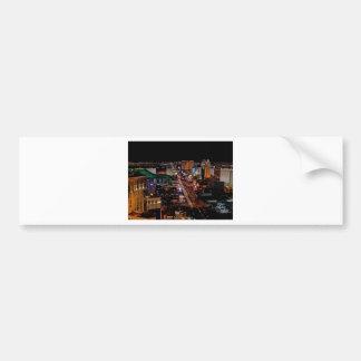 Las Vegas by Night Bumper Sticker