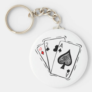 Las Vegas Card Deck Key Ring