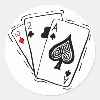 Las Vegas Card Deck Round Sticker