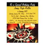 Las Vegas Casino Birthday Bash Event 11 Cm X 14 Cm Invitation Card