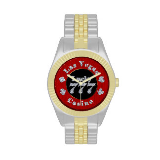Las Vegas Casino Lucky 777 Poker Chip Wrist Watch