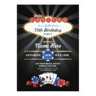 Las Vegas Casino Night Birthday Invite Party