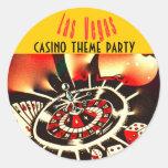 Las Vegas casino party Stickers