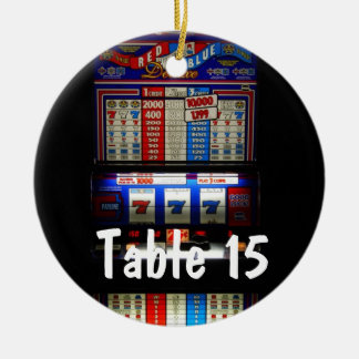 Las Vegas Casino Theme Table Number Christmas Ornament