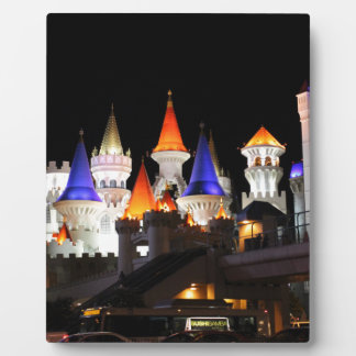 Las Vegas Castle Hotel Gaming Vegas City Colorful Display Plaques