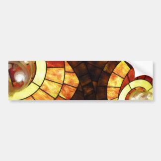 LAS VEGAS ceiling colored glass browns cream reds Bumper Sticker