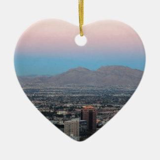 Las Vegas Ceramic Heart Decoration