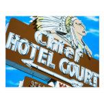 Las Vegas Chief Hotel Retro Neon Sign Postcard
