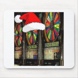 Las Vegas Christmas Slots Mousepads