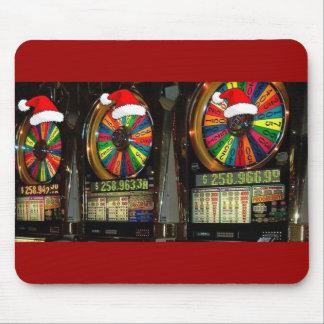 Las Vegas Christmas Slots Mouse Pad