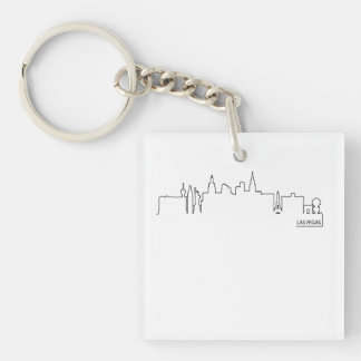 Las Vegas cityscape Acrylic Key Chain