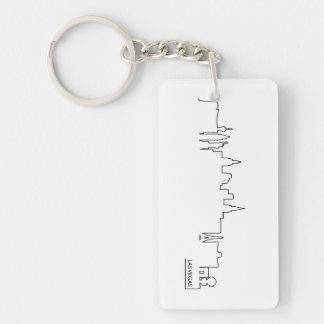 Las Vegas cityscape Rectangular Acrylic Keychains
