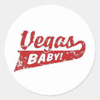 Las Vegas Classic Round Sticker