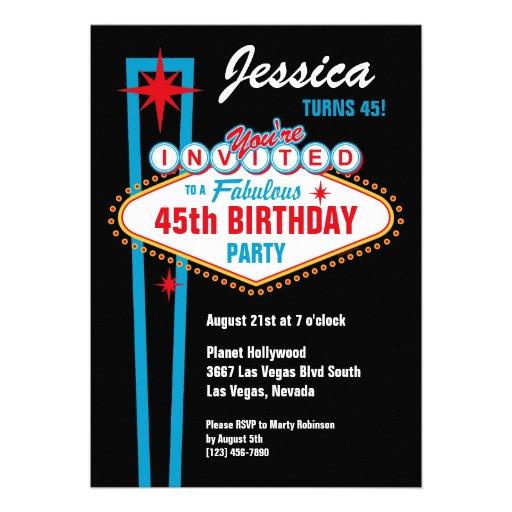 Las Vegas Custom Invitation