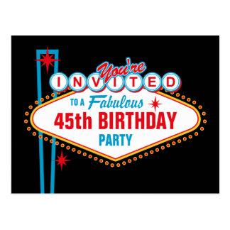 Las Vegas Custom Invitation Post Cards