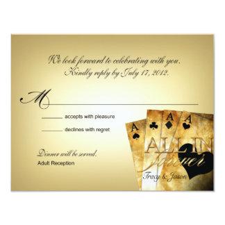 Las Vegas Deluxe RSVP response card 11 Cm X 14 Cm Invitation Card