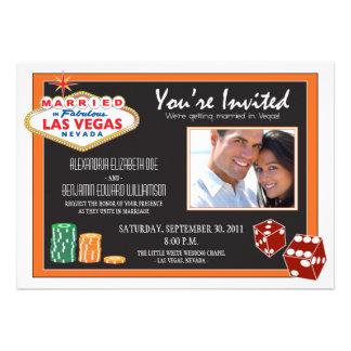 Las Vegas Destination Wedding Invitation (orange)