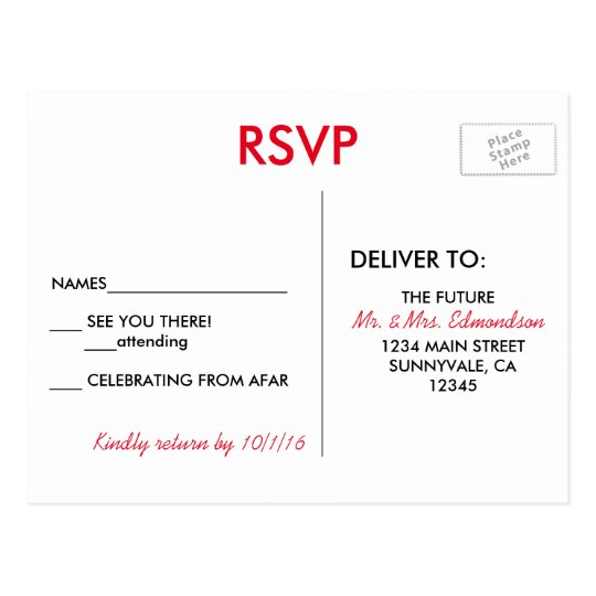 Las Vegas Destination Wedding RSVP Postcard