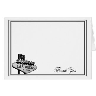Las Vegas Destination Wedding Thank You Note Card