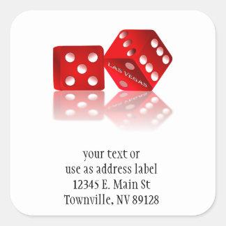 Las Vegas Dice Square Sticker