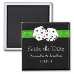 Las Vegas Dice Theme Green & Black Save the Date