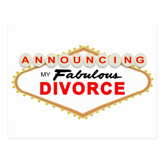 Las Vegas Divorce Announcement Postcard