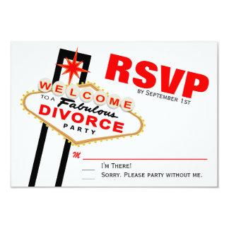Las Vegas Divorce Party RSVP Card