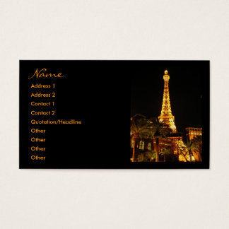 Las Vegas Eiffel Tower Business Cards