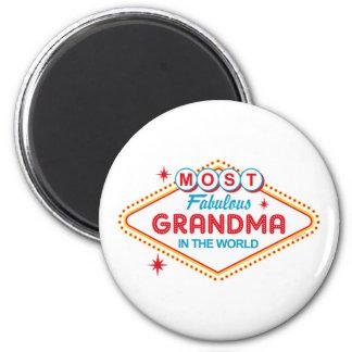 Las Vegas Fabulous Grandma Magnet