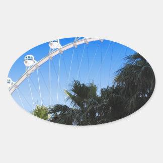 Las Vegas Ferris Wheel 2 Oval Sticker