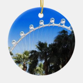 Las Vegas Ferris Wheel 2 Round Ceramic Decoration