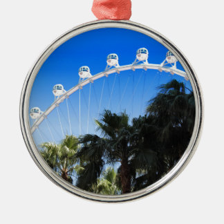 Las Vegas Ferris Wheel 2 Silver-Colored Round Decoration