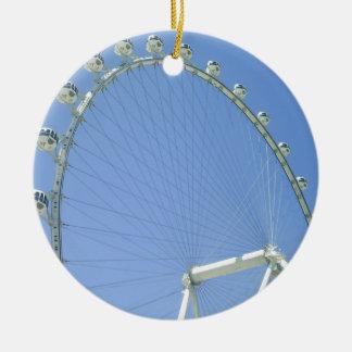 Las Vegas Ferris Wheel Round Ceramic Decoration
