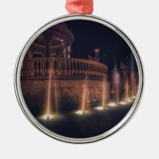 Las Vegas Flamingo Hotel Fountain Architecture Christmas Ornament