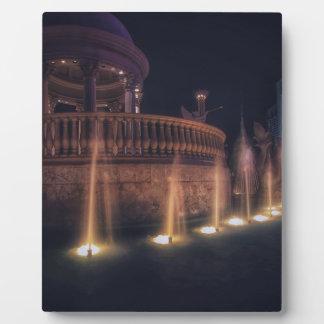 Las Vegas Flamingo Hotel Fountain Architecture Display Plaques