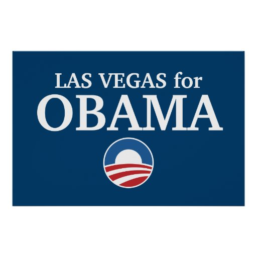 LAS VEGAS for Obama custom your city personalized Print