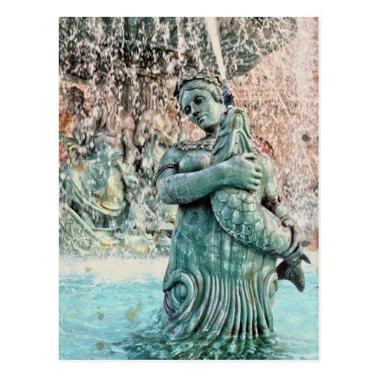 Las Vegas Fountain Mythological Greek Goddess Postcard