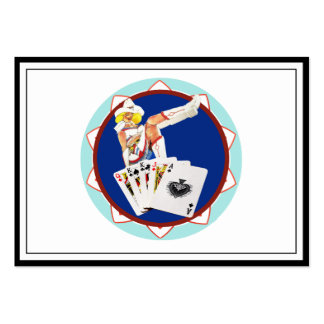 Las Vegas Gal Poker Chip Pack Of Chubby Business Cards