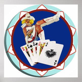 Las Vegas Gal Poker Chip Poster