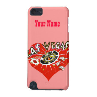 Las Vegas Gambler Red Heart iPod Touch (5th Generation) Cases
