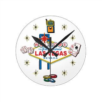 Las Vegas Gambling Icom Wall Clocks