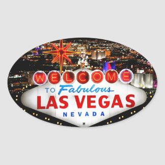 Las Vegas Gifts Oval Sticker