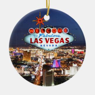 Las Vegas Gifts Round Ceramic Decoration