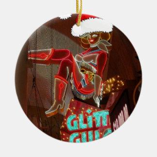 Las Vegas Glitter Gulch Christmas Christmas Ornament