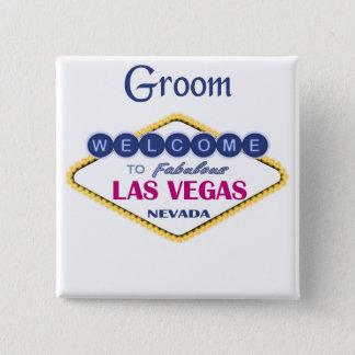 Las Vegas Groom Button