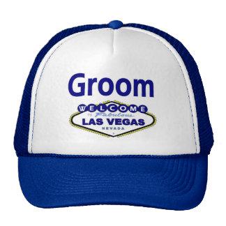 Las Vegas Groom Cap in Blue Mesh Hats