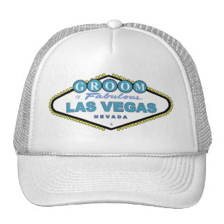 Las Vegas GROOM Cap! Trucker Hat