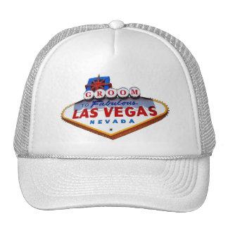Las Vegas GROOM Cap Trucker Hats
