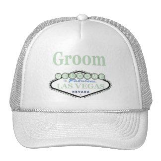 Las Vegas Groom Soft Green Cap Mesh Hats